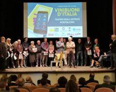 Il Presidente Cencioni, il Direttore Pondini e i produttori di Brunello di Montalcino premiati