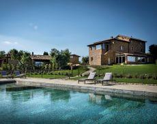 La piscina del Relais Mastrojanni